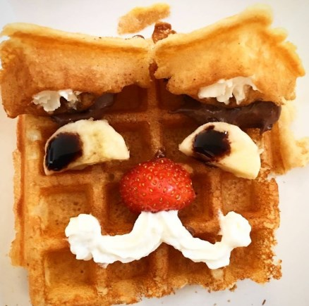 waffle in the shape of cartoon